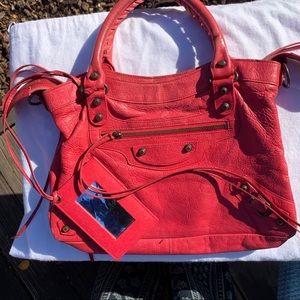 Red Balenciaga Moto bag 🔥On Sale!